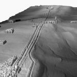 Lidar image of Hadrian's Wall, one of English Heritage's early lidar projects. Source Cambridge University Unit for Landscape Modelling (March 2004)